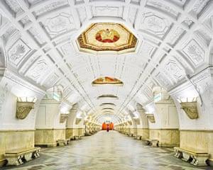 Belorusskaya metro station, Moscow.