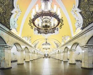 Komsomolskaya metro station, Moscow.