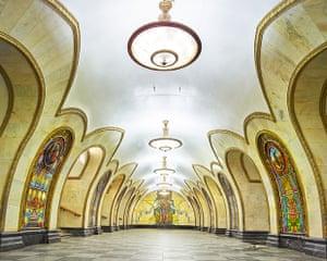 Novoslobodskaya metro station, Moscow.