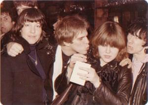 Bettie Ringma Johnny Blitz and Stiv Bators of Dead Boys and Miriam Linna of the Cramps