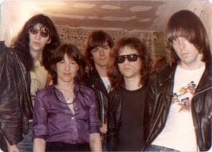 Bettie Ringma with the Ramones