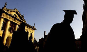 Student in silhouette