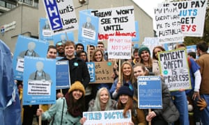 Junior doctors protest against the new contract, Newcastle upon Tyne, 24 October.