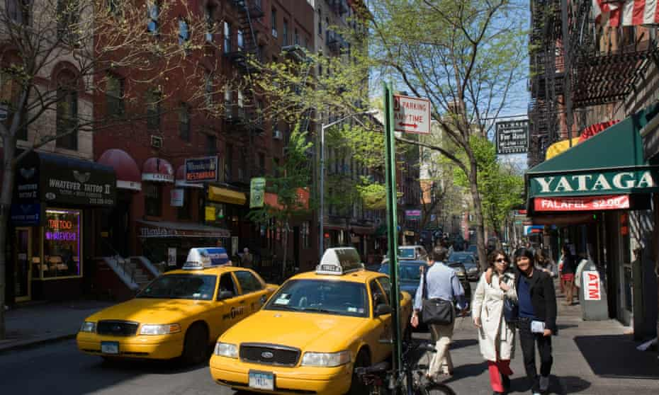 Trees line a street in Greenwich Village in New York.