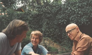 Julian Barnes (left) with Kersti and Philip French.