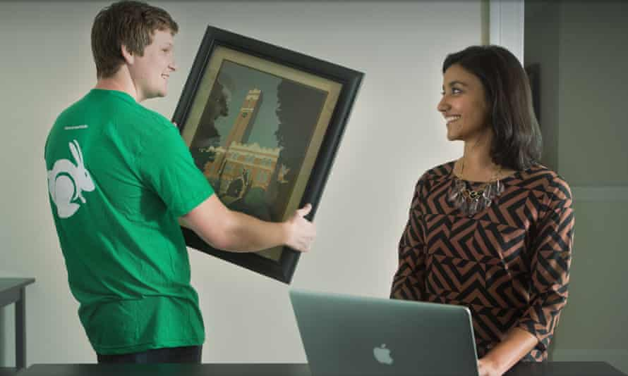 A promotional image from TaskRabbit, one of the biggest companies labelled as part of the 'sharing economy'.