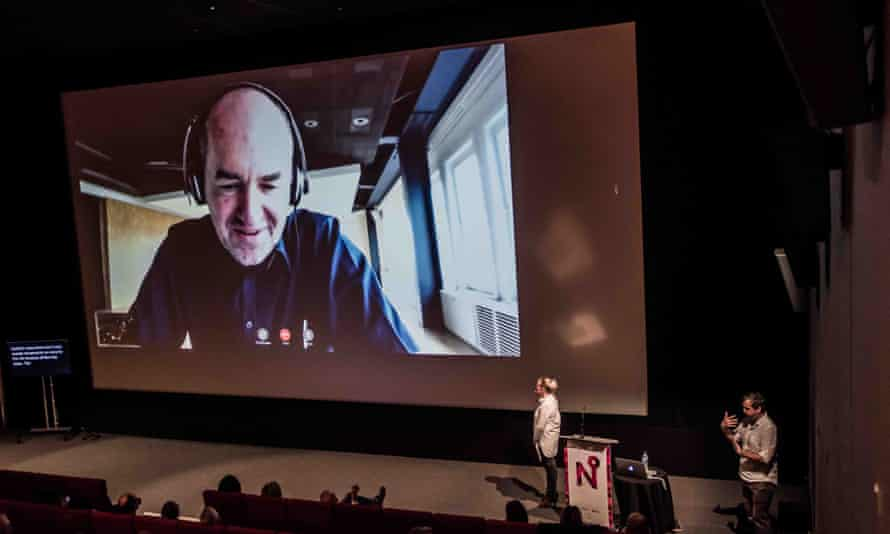 Miraculous technology … Vasif Korton speaks from Istanbul at ACE's No Boundaries conference.