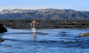 The newly formed Holuhraun natural baths, Iceland. All photographs: Roman Gerasymenko