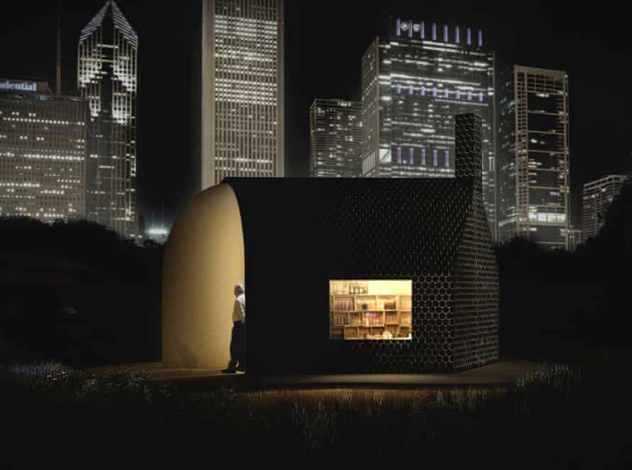 Lekker Architects' entry to the Lakefront Kiosks competition