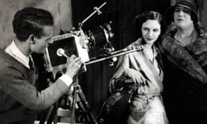 Anthony Asquith filming A Cottage on Dartmoor, 1929