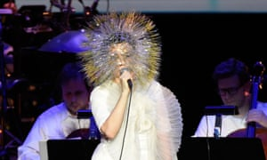 Björk performing in New York in March on her Vulnicura tour