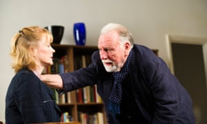 Claire Skinner and Kenneth Cranham in The Father at Wyndham's theatre