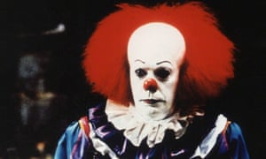 Tim Curry as Pennywise in the 1990 TV movie of Stephen King's IT.