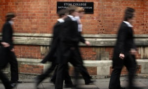 Eton schoolboys who, according to King, suffer life-long prejudice that holds their careers back.
