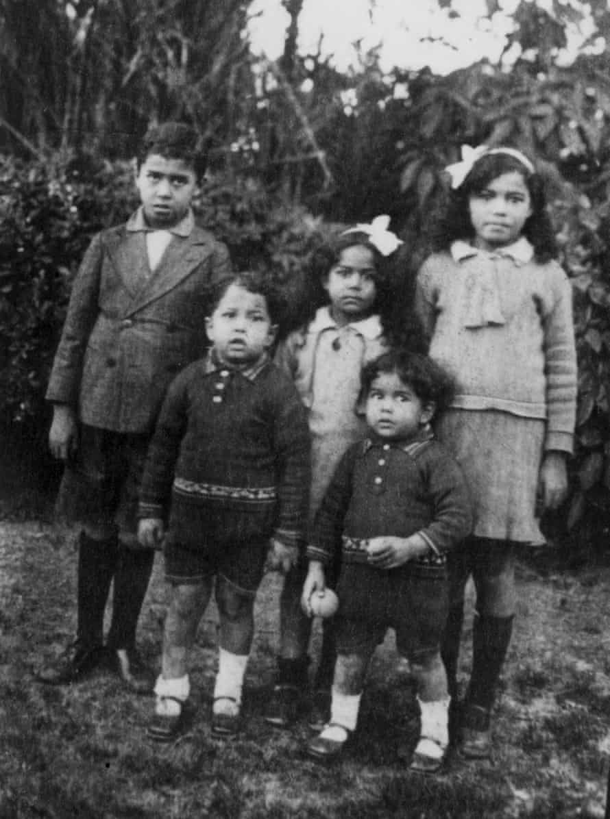 Nawal el Saadawi, aged seven, with her brothers and sister, 1938
