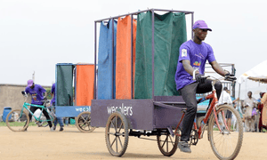 The Wecyclers team get around the city on a fleet of cargo-bikes.