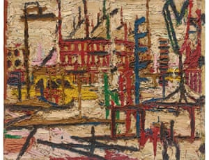 Mornington Crescent, 1965, by Frank Auerbach.