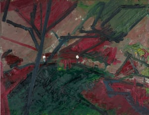 Winter Evening, Primrose Hill Study, 1974-75 by Frank Auerbach