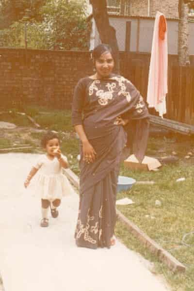 Kiran with her mother, Piari Sidhu.
