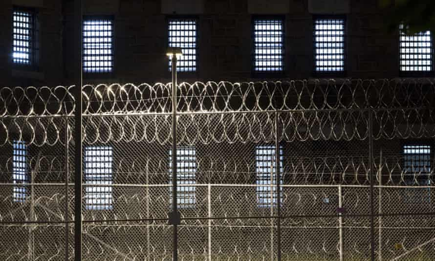 Razor wire covers a fence at the Clinton Correctional Facility, Monday, June 15, 2015 in Dannemora, N.Y. State police say more than 800 law enforcement officers are pushing on in the hunt for convicted murderers David Sweat and Richard Matt 10 days after the two escaped from the maximum-security prison in rural New York. (AP Photo/Mark Lennihan)