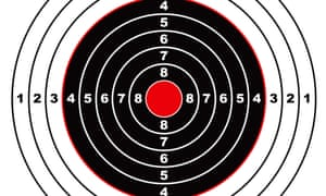 BMPB44 Illustrated rifle target with black sections and points marked on circletargetaimingaimballisticcenterconcentrichunticonillustrationmarkredriflesymbolbullseye