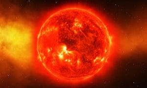 The sun...