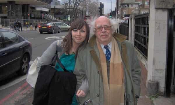 Rhiannon Lucy Cosslett with her grandfather, Taid