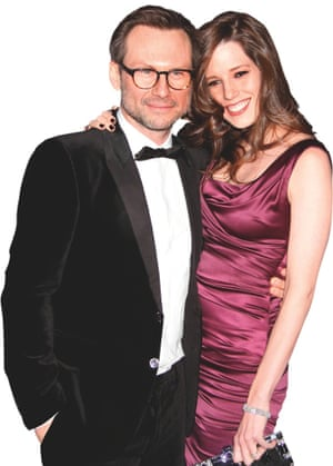 Christian Slater with wife Brittany Lopez