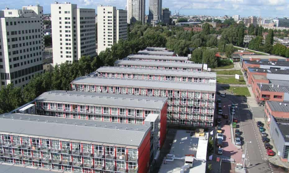 The container village in Amsterdam.