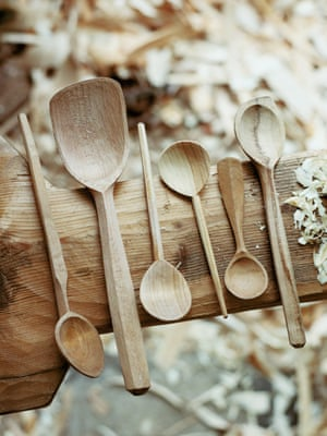 Wooden spoons made by Barnaby Carder (Barn the Spoon) in Haggerston