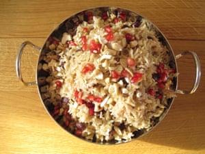 Shiva Ramoutar's rice and peas.