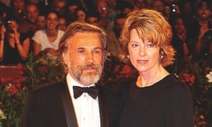 Photograph of Christoph Waltz and his wife