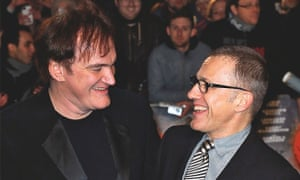 Photograph of Christoph Waltz and Quentin Tarantino