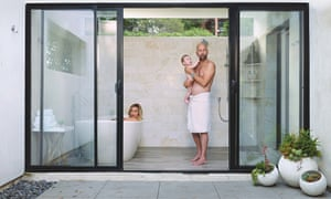 Neil Strauss with his wife and son