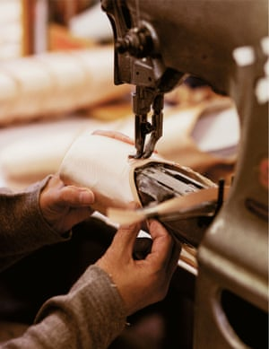 Freed of London ballet shoes being made