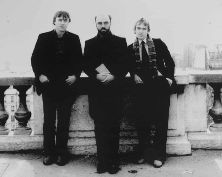 Christopher Hitchens, James Fenton and Martin Amis in Paris in about 1977.
