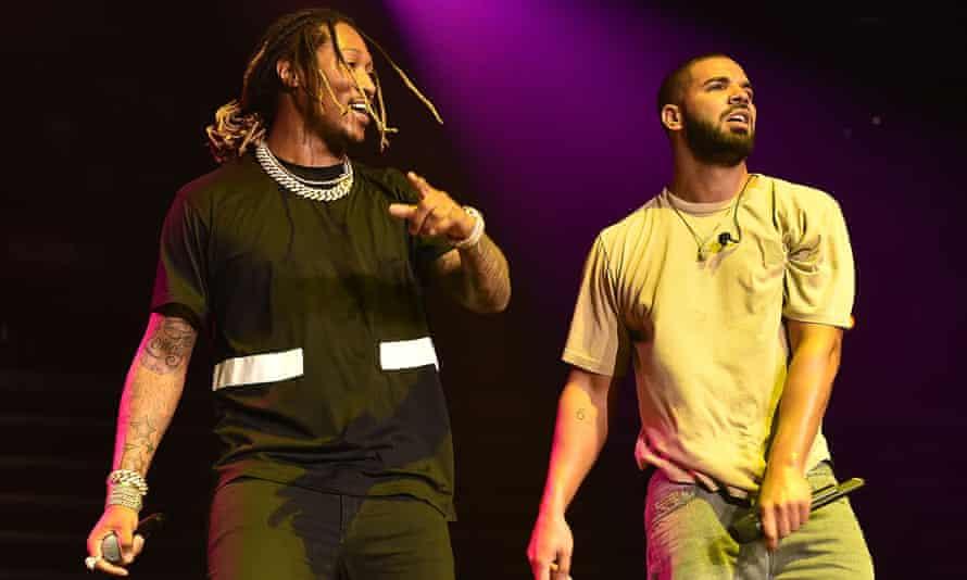 Future and Drake performing
