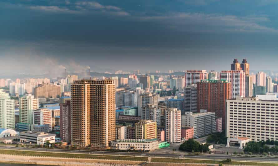 A view of the Pyongyang skyline, taken by Danish photographer Ulrik Pedersen, who spent two weeks last year documenting a more colourful side to life in North Korea.