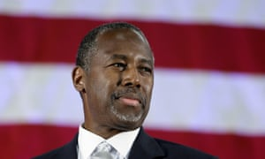 Ooops … Republican presidential candidate Ben Carson.