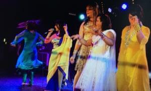 Performers on stage at Club Kali, Kentish Town, London
