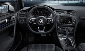 Inside story: the Golf, despite its futuristic powertrain, will be familiar to all VW drivers.