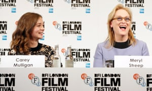 Carey Mulligan and Meryl Streep at the Suffragette press conference.