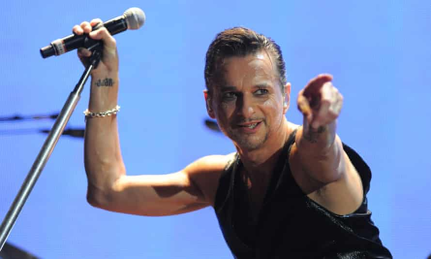 Dave Gahan with Depeche Mode in Bologna in 2014.