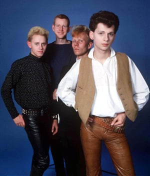 Dave Gahan (front) with Depeche Mode in 1981.