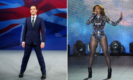 Adopt the position … George Osborne and Beyoncé.