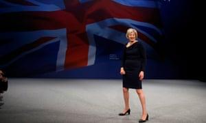 Theresa May: preparing to make a getaway.