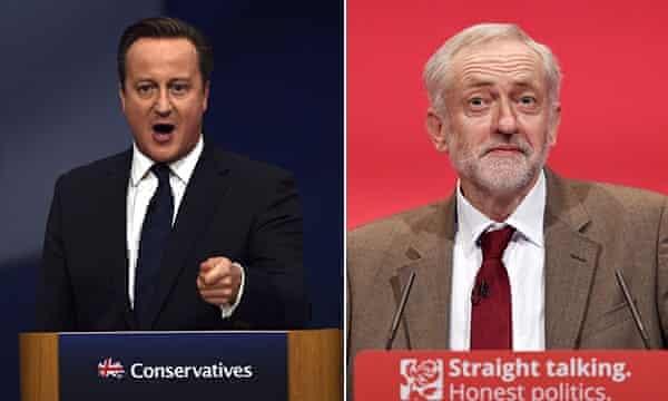 David Cameron and Jeremy Corbyn.