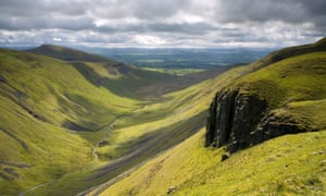 A valleyin the north Pennines, Cumbria, England. Photograph: FLPA/Alamy