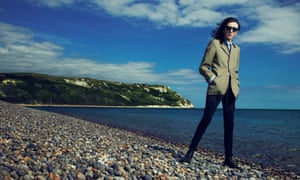 Poet John Cooper Clarke by the UK coast