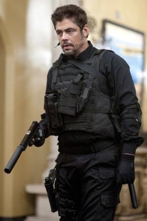 Benicio Del Toro as the traumatised Alejandro.